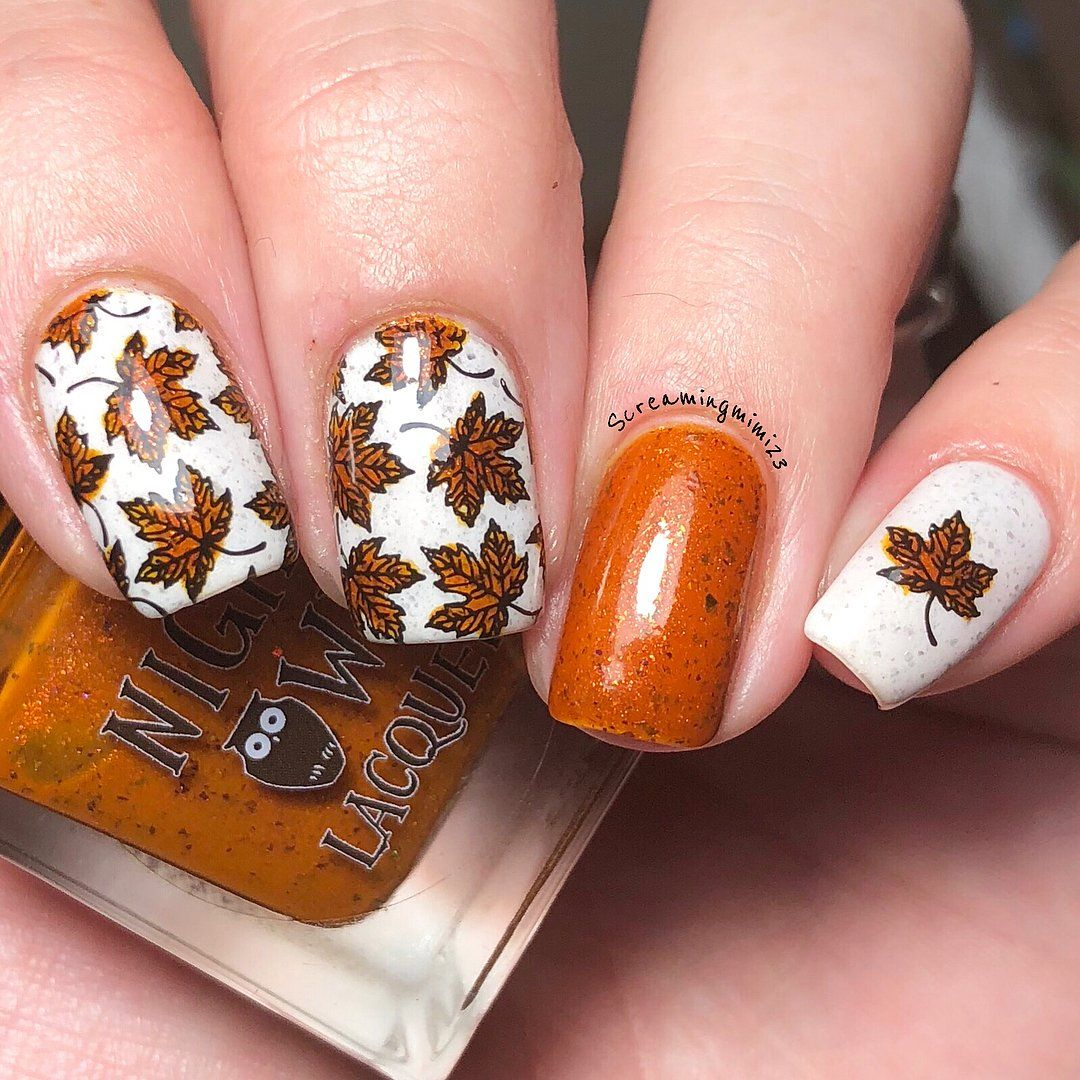 35 Leaf Nails Art Ideas For Your Fall In 2020 Fall Nail Art Fall Nail Art Designs Gel Nail Art Designs