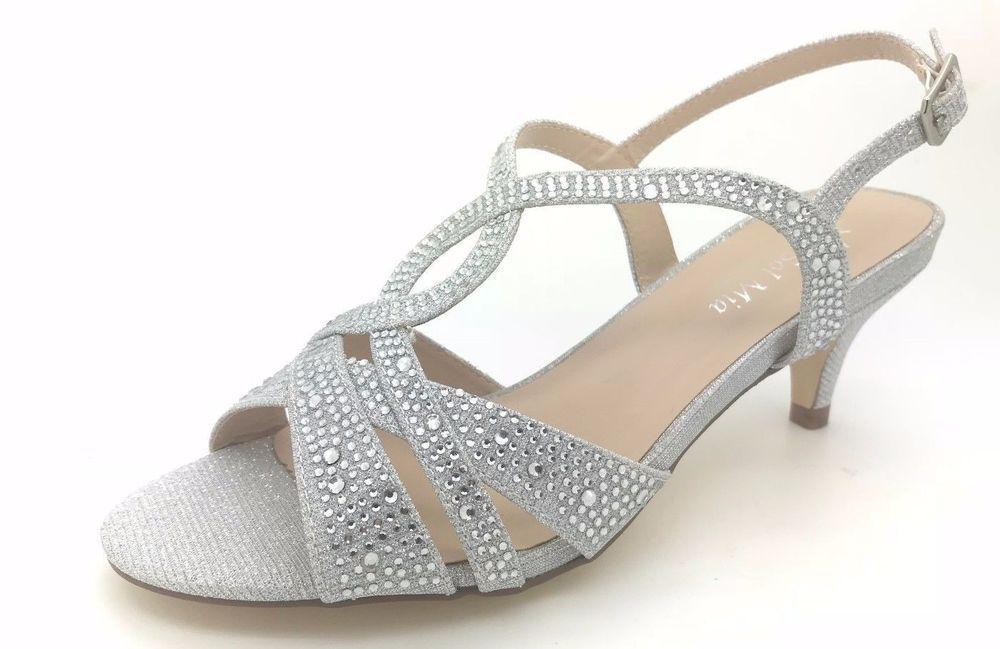 ce39c01d9fab SOL Mia Womens Wedding Dress Rhinestones Open Toe Classic Low Heel Sandals  Shoes  SolMia  Sandals  BridalorWedding
