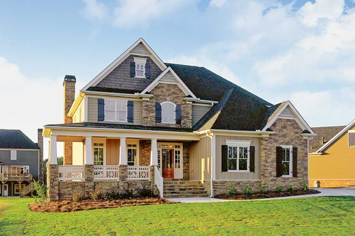 Plan 710030btz 4 Bed New American House Plan With Laundry Upstairs In 2021 Craftsman Style House Plans Country House Plans Victorian House Plans