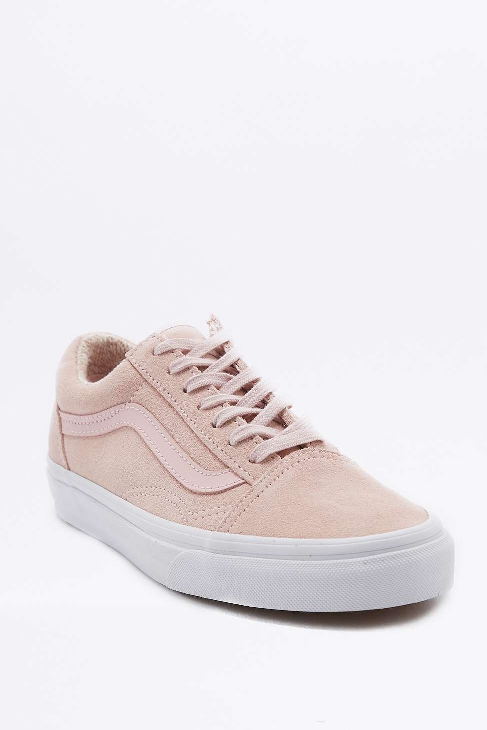 Vans - Baskets Old Skool en daim roses | Chaussures et ...
