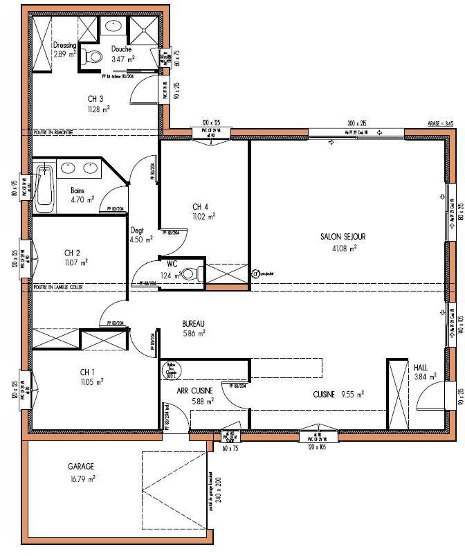 plan de maison de 150m2