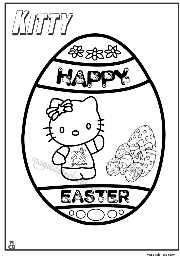 Pin von Magic Color Book auf Hello Kitty Coloring pages free online ...