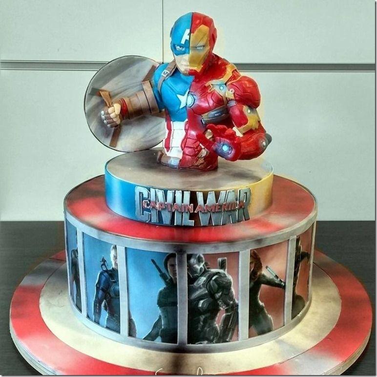 Marvelous Captain America Civil War Cake In 2020 Captain