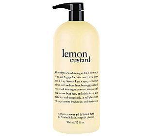philosophy supersize lemon custard shower gel 32oz