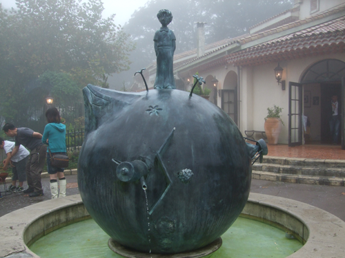 sculpture at The Little Prince museum in Hakone, Japan