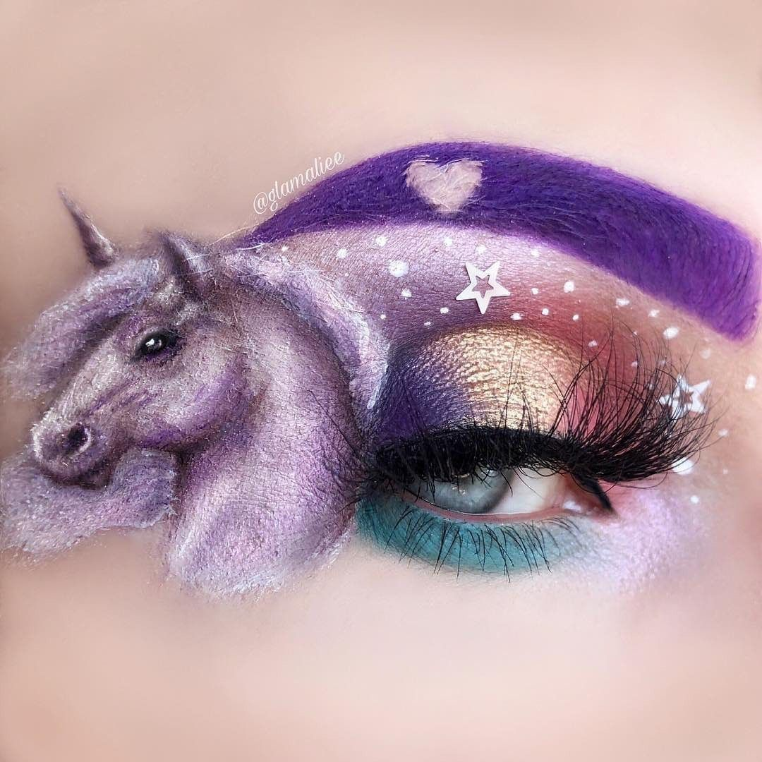 Pin By وط ن On ميك اب عيون Unicorn Makeup Brushes Eye Makeup Unicorn Makeup