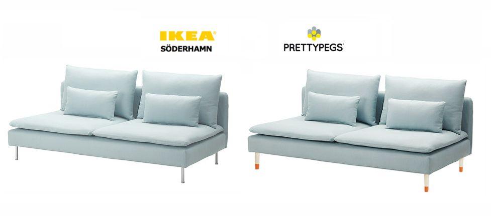 soderhamn sofa - Ikea hack to exchange the legs   Meuble ...