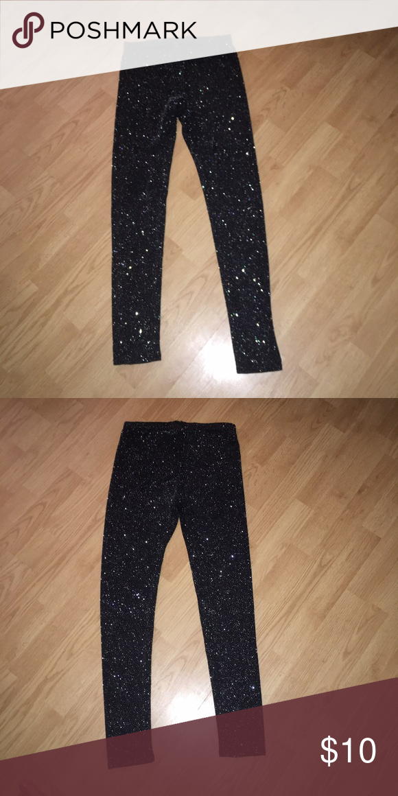 ac4c741e Forever 21 glittery/ sparkly high waisted legging Forever 21 glittery/  sparkly high waisted legging Forever 21 Pants Leggings