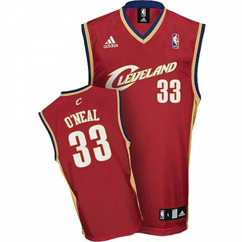 129ebca2b7ab Cleveland Cavaliers  33 Shaquille O Neal Red Jersey 19.5
