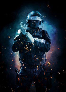 Doc By Chandelier Metal Posters Displate Rainbow Six Siege Art Rainbow Art Rainbow Wallpaper