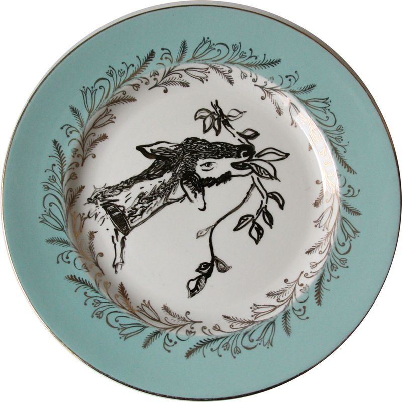 'Goatie' Hand Illustrated Plate by For All We Know