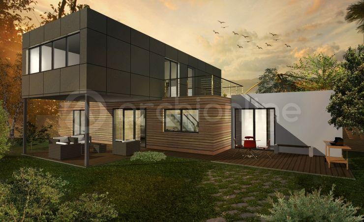 Maison Box - Plan de maison Moderne par Archionline Extérieurs - plan de maisons modernes
