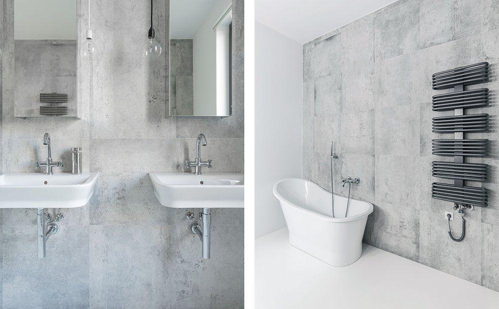 Beton We Wnetrzach Szara Lazienka W Stylu Minimalistycznym Design Urzadzanie Urzarzaniewnetrz Urzadzaniewnetrza Inspiracja Inspiracje Bathroom Bathtub