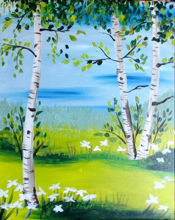 40 Simple And Easy Acrylic Landscape Painting Ideas In 2020 Malarstwo Akrylowe Projekty Artystyczne Painting