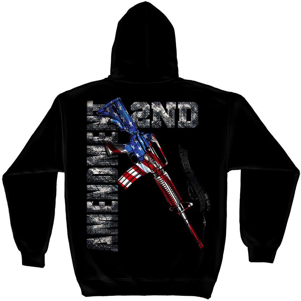 2nd Second Amendment AR-15 T Shirt Mens Gun NRA Eagle American Flag Tee S-3XL