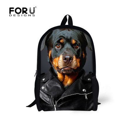 Forudesigns Women Casual Backpack Cute 3d Pug Dog Printing School