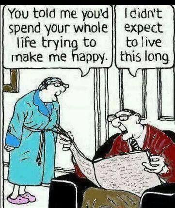 Wonderful Funny Old People Cartoon
