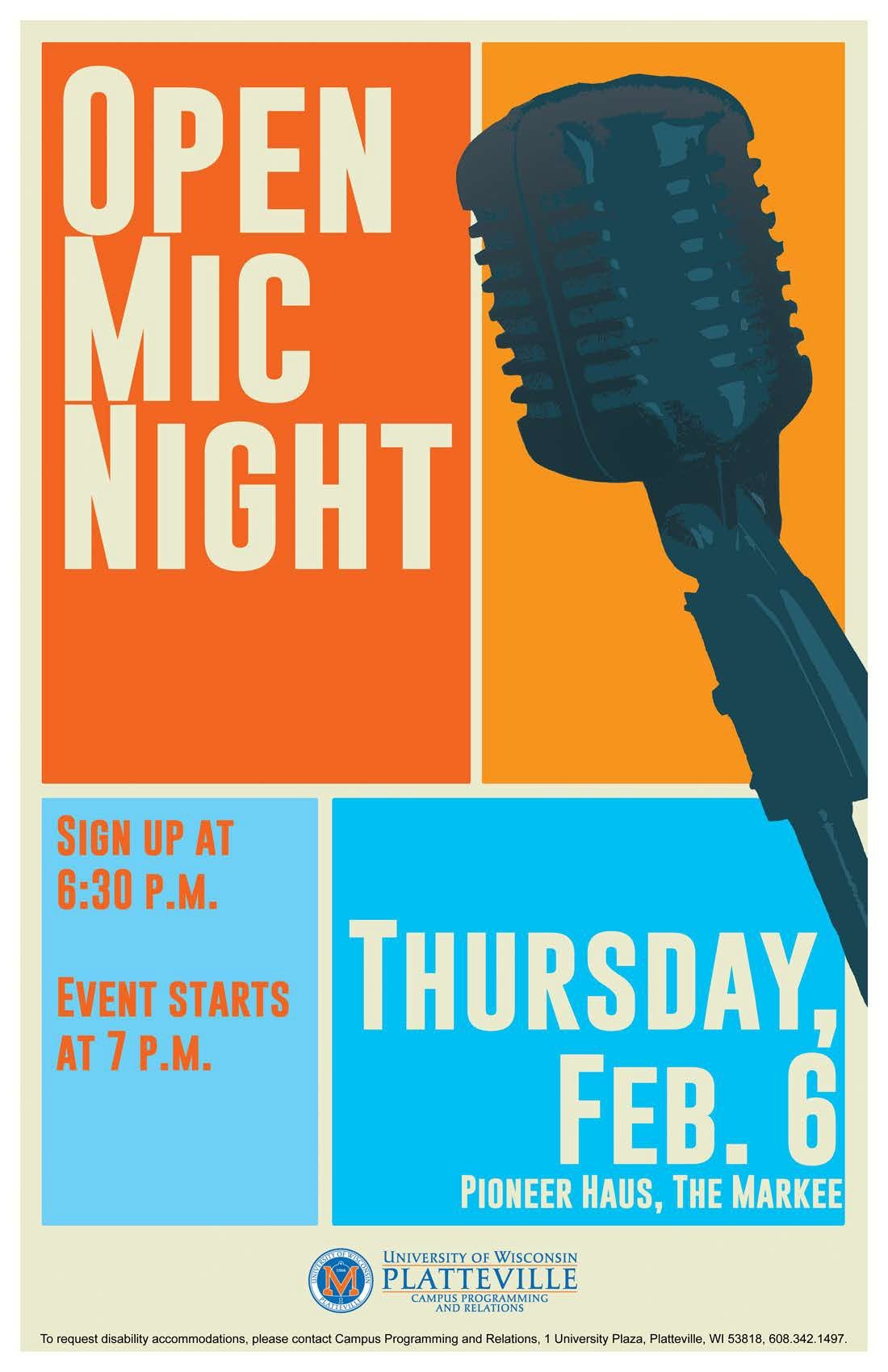 open mic night poster design layout graphic design flyer creative poster design event