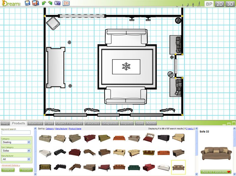 Interior Design Space Plan For Living Room With The Great Room