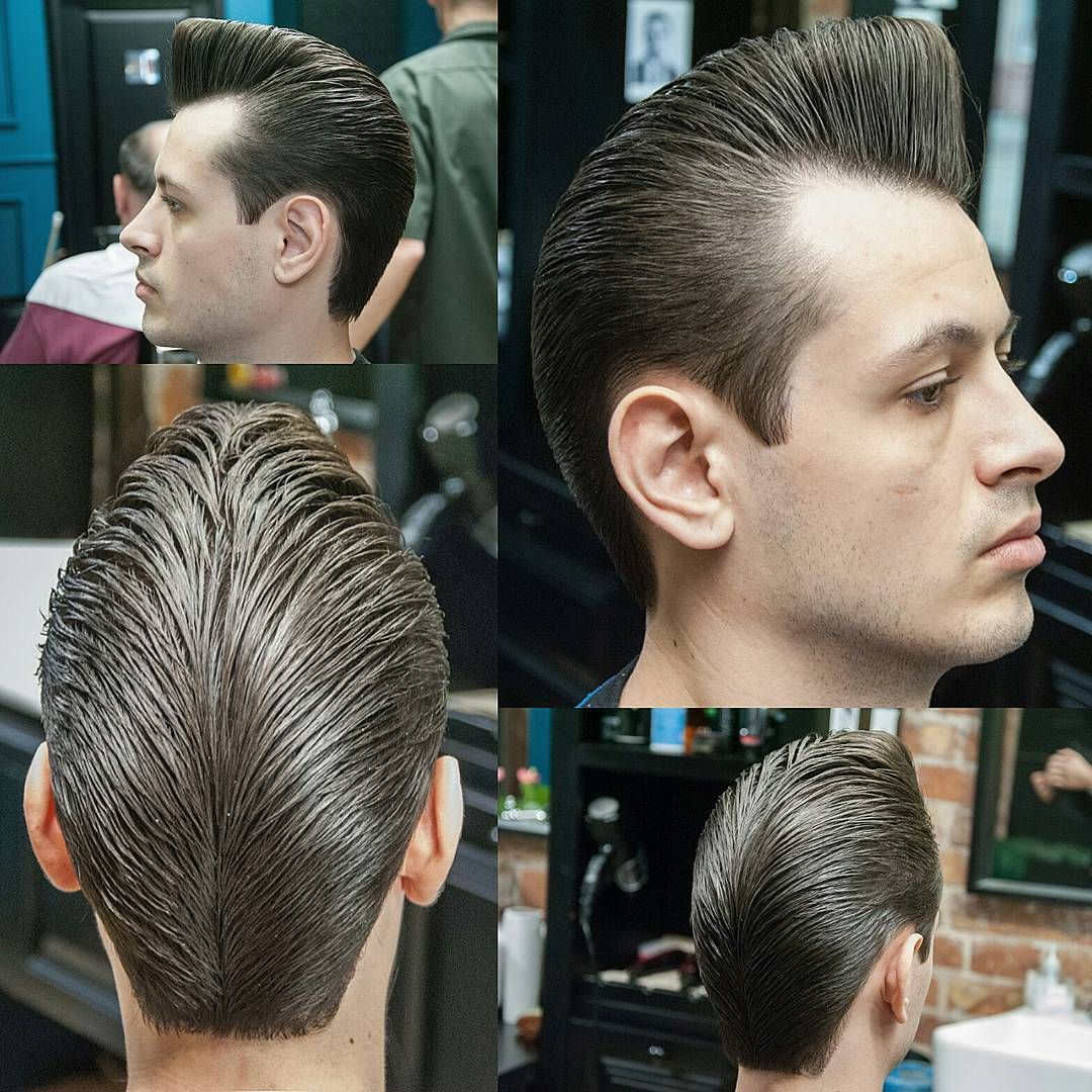 Rockabilly Men Classic Hairstyles Mens Male Hair Greaser Haircuts Pompadour Cuts Brylcreem
