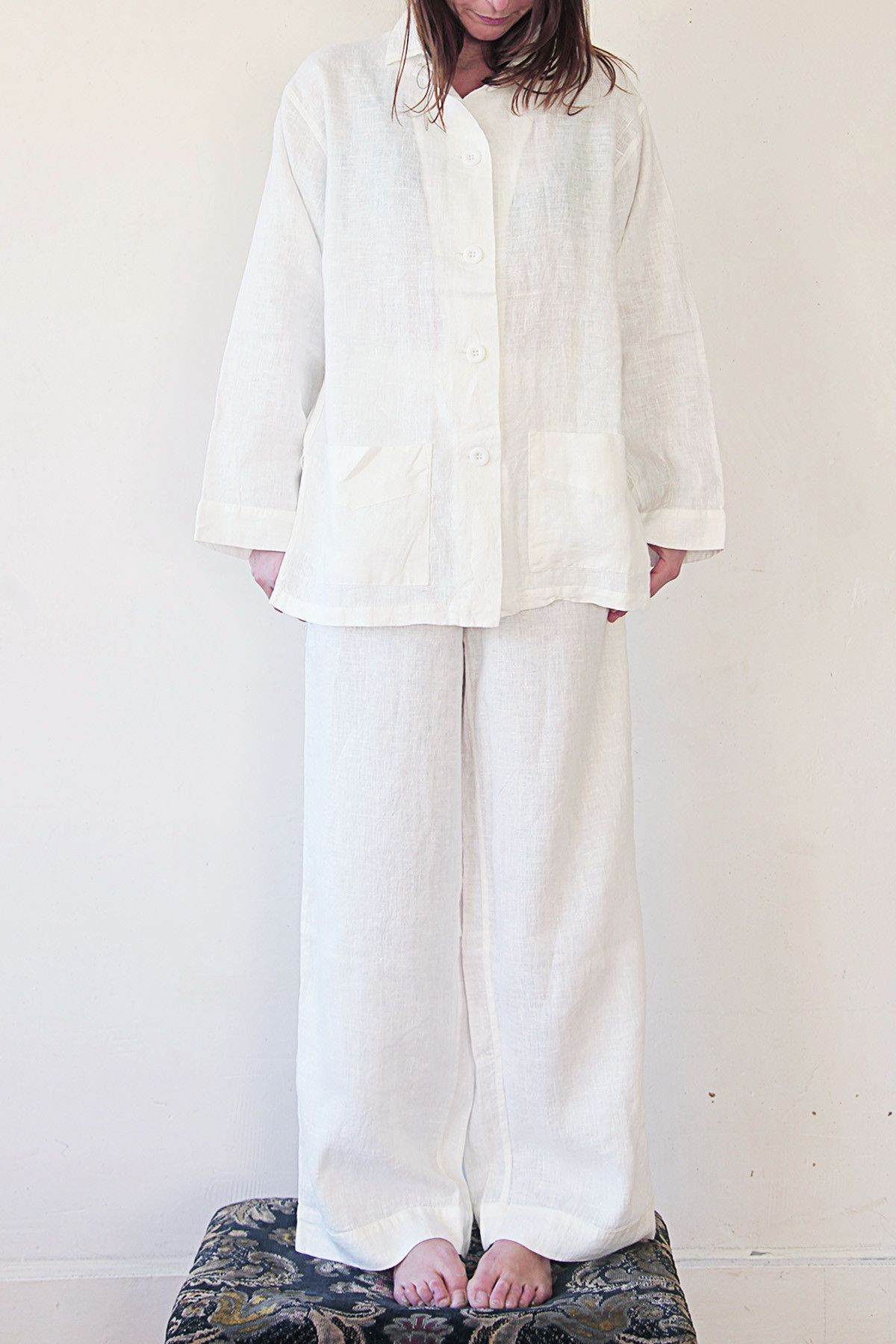Linen Pajama Sets...cool, linen pj\'s | LOUISE CUTTING - CUTTING LINE ...