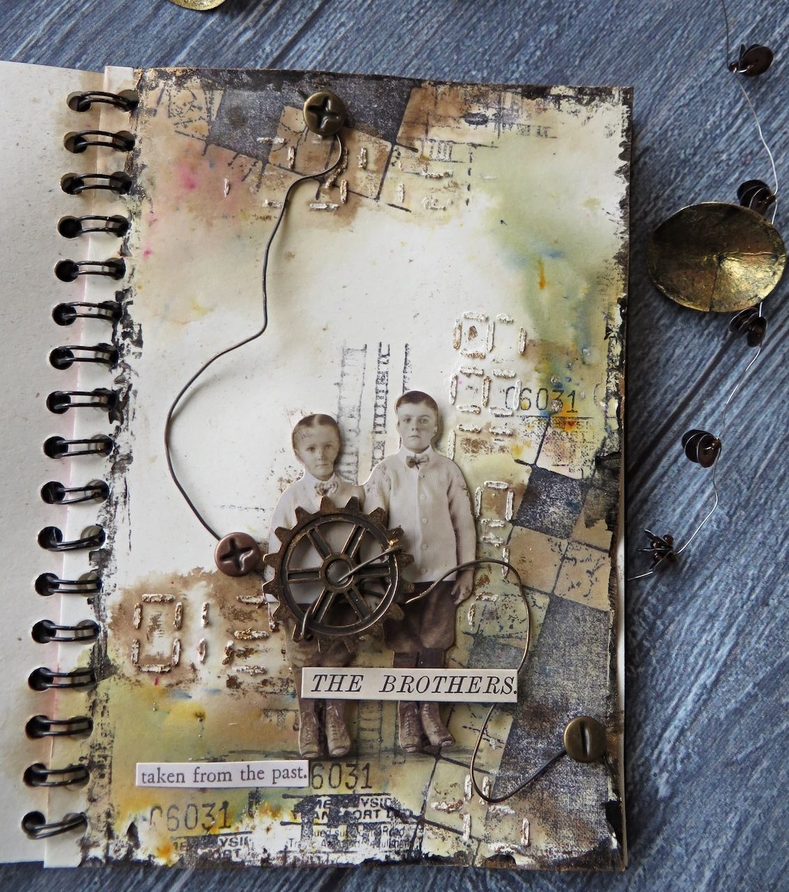 Art Journal Grungy And Vintage Mixed Media Project Lemon Creation Art Journal Mini Art Journal Art Journal Pages