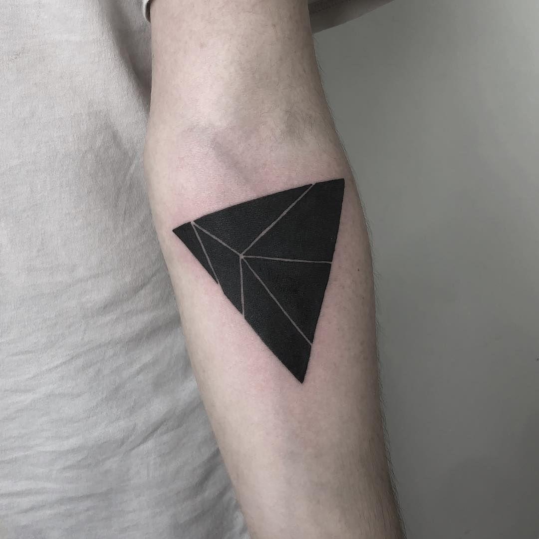 Triangle With Line Tattoo   Novocom.top