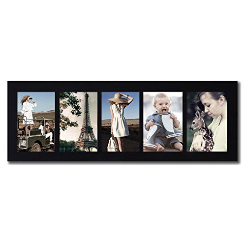 Adeco [PF0271] 5 Openings 4x6 Collage Picture Frame - Wood Photo ...