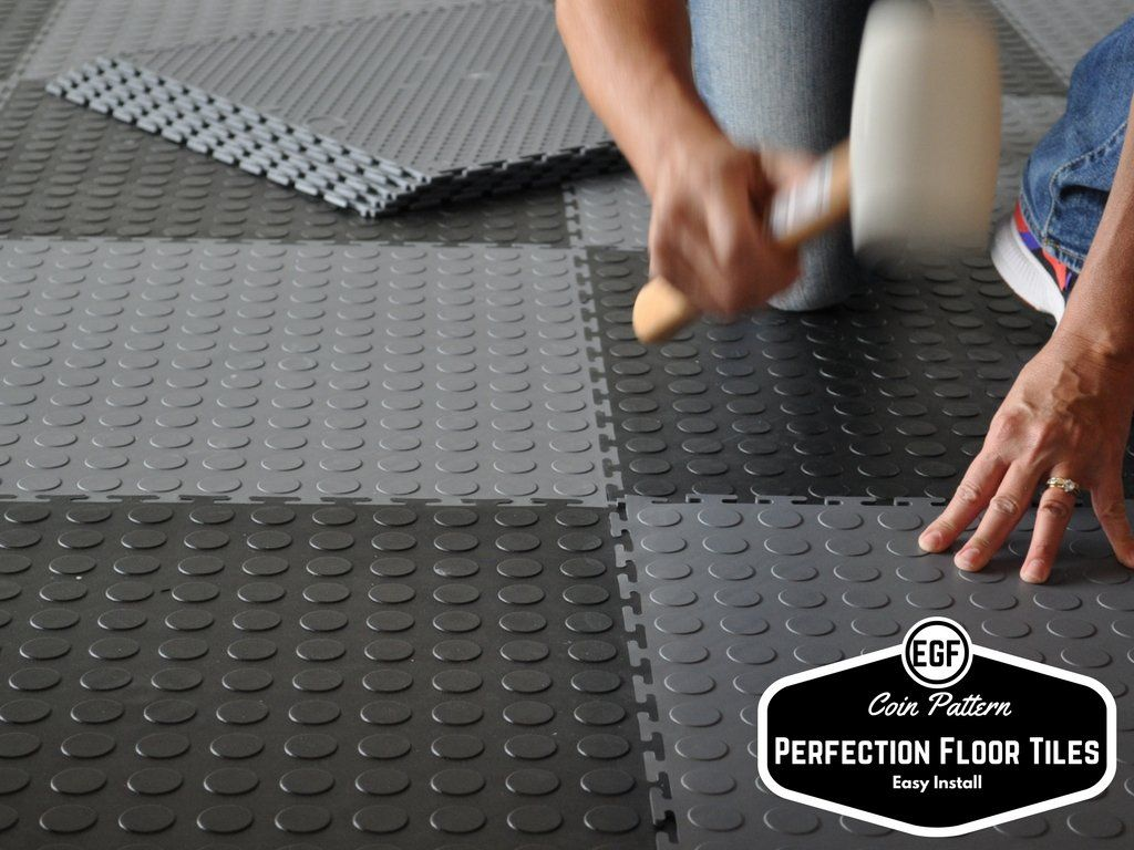 Perfection Floor Tile Coin Pattern Loose Lay Interlocking Tiles