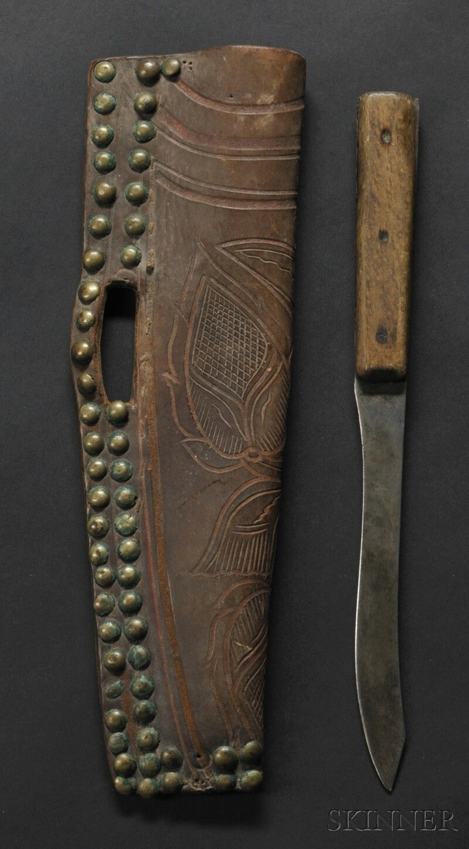 Northern Plains Commercial Leather Knife Sheath Knife Sheath Native American Knives Knife