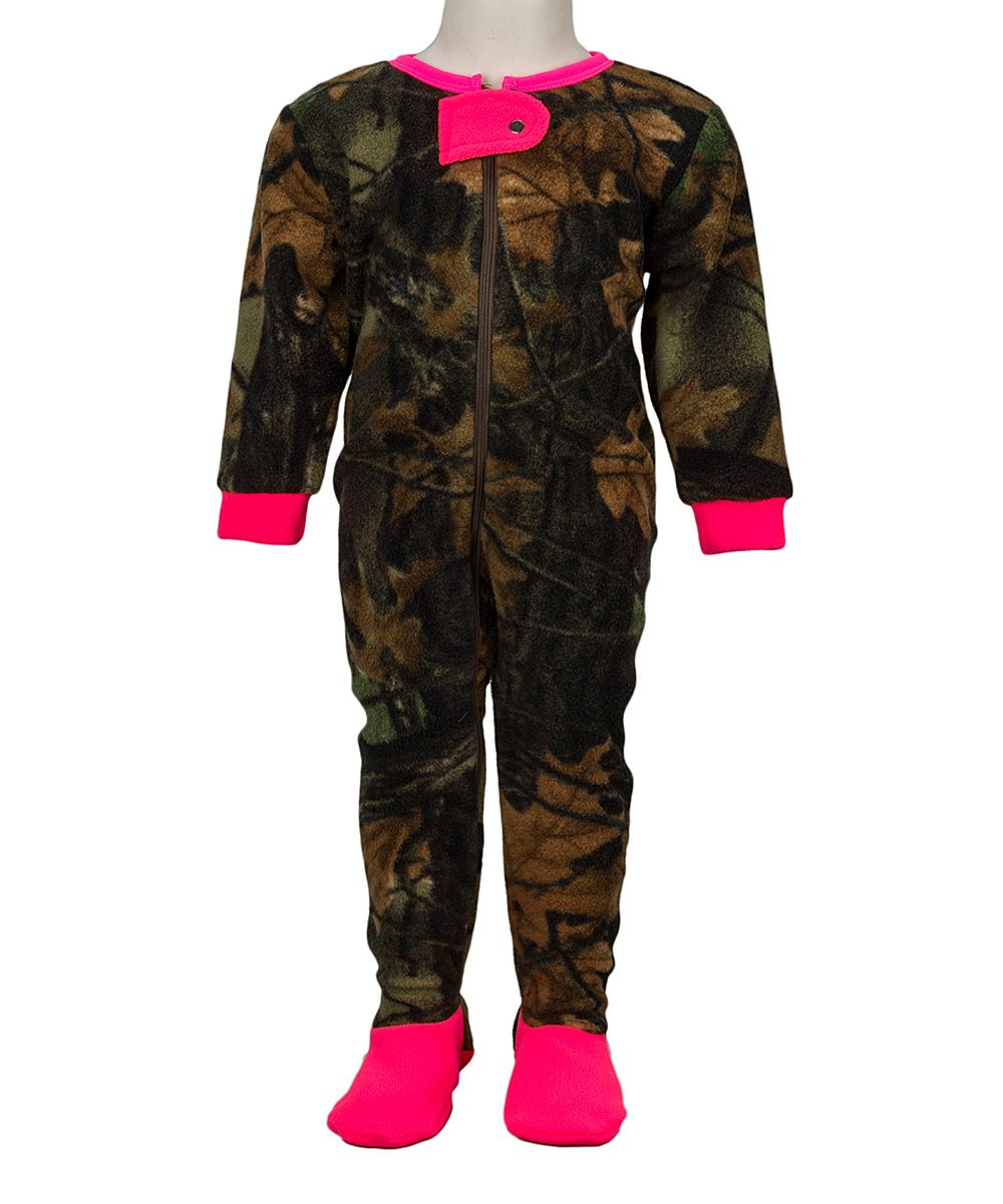 24d5fc5a3 Neon Pink   Camo Fleece Footie - Infant