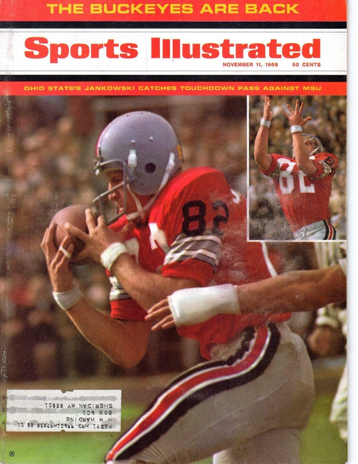 1968 Nov 11 Sports Illustrated Magazine Football Bruce Jankowski Ohio State GD | eBay