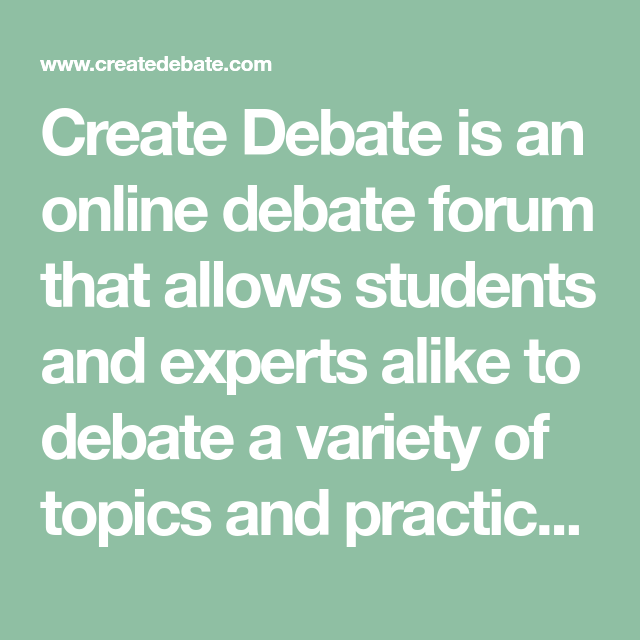 practice debate topics