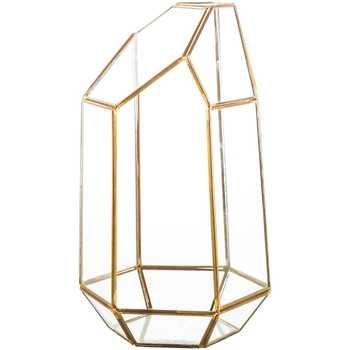 Gold Geometric Terrarium Hobby Lobby 1164227 Geometric Terrarium Geometric Lantern Glass Terrarium
