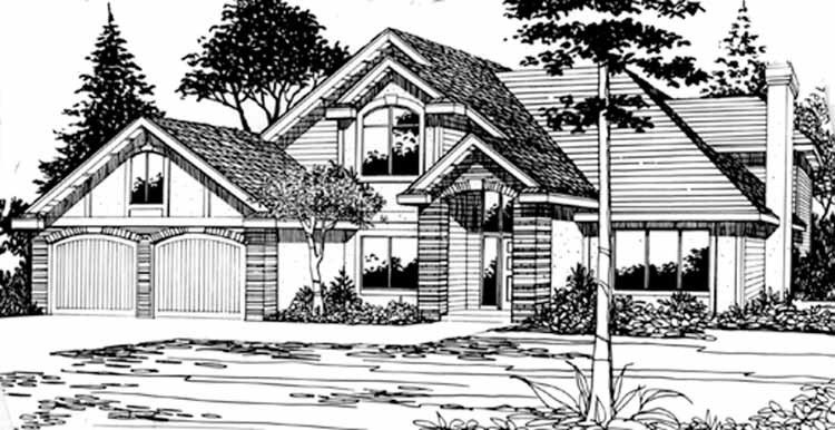 Home plan homepw18391 2347 square foot 3 bedroom 2 for Www homeplans com