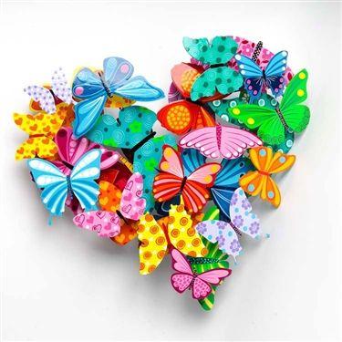 Herzallerliebst bezauberndes Schmetterlings-Herz 💚😊!