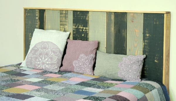 Tête de lit en bois Idee tete de lit, Tete de et Têtes de lit en bois