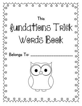 Fundations Trick Words Book for Levels 1 AND 2. Awesome for keeping track of which words kids still need practic… | Fundations trick words ...