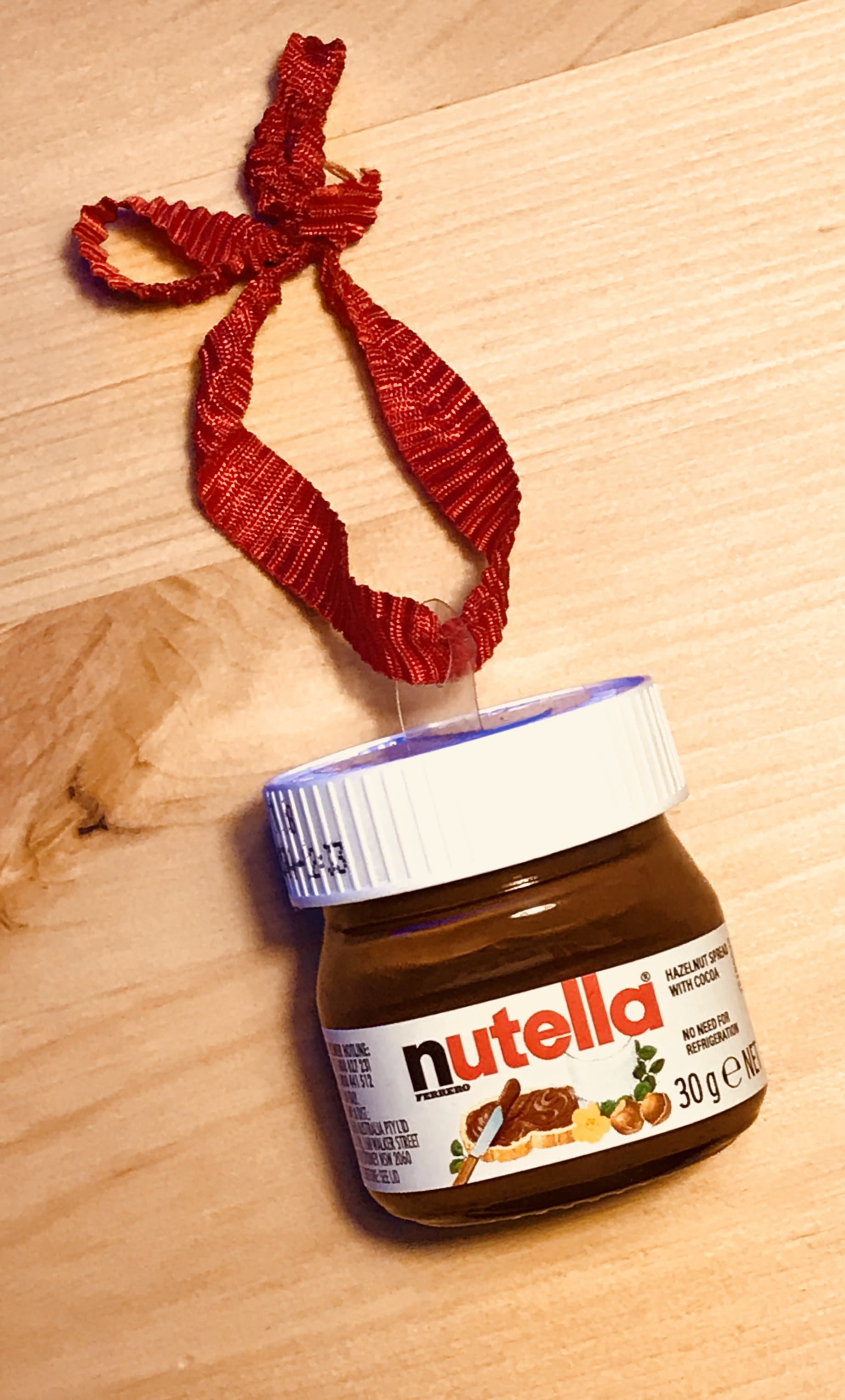 This Christmas Ornament Is A Miniature Jar Of Nutella Nutella Nutella Bottle Christmas Decorations