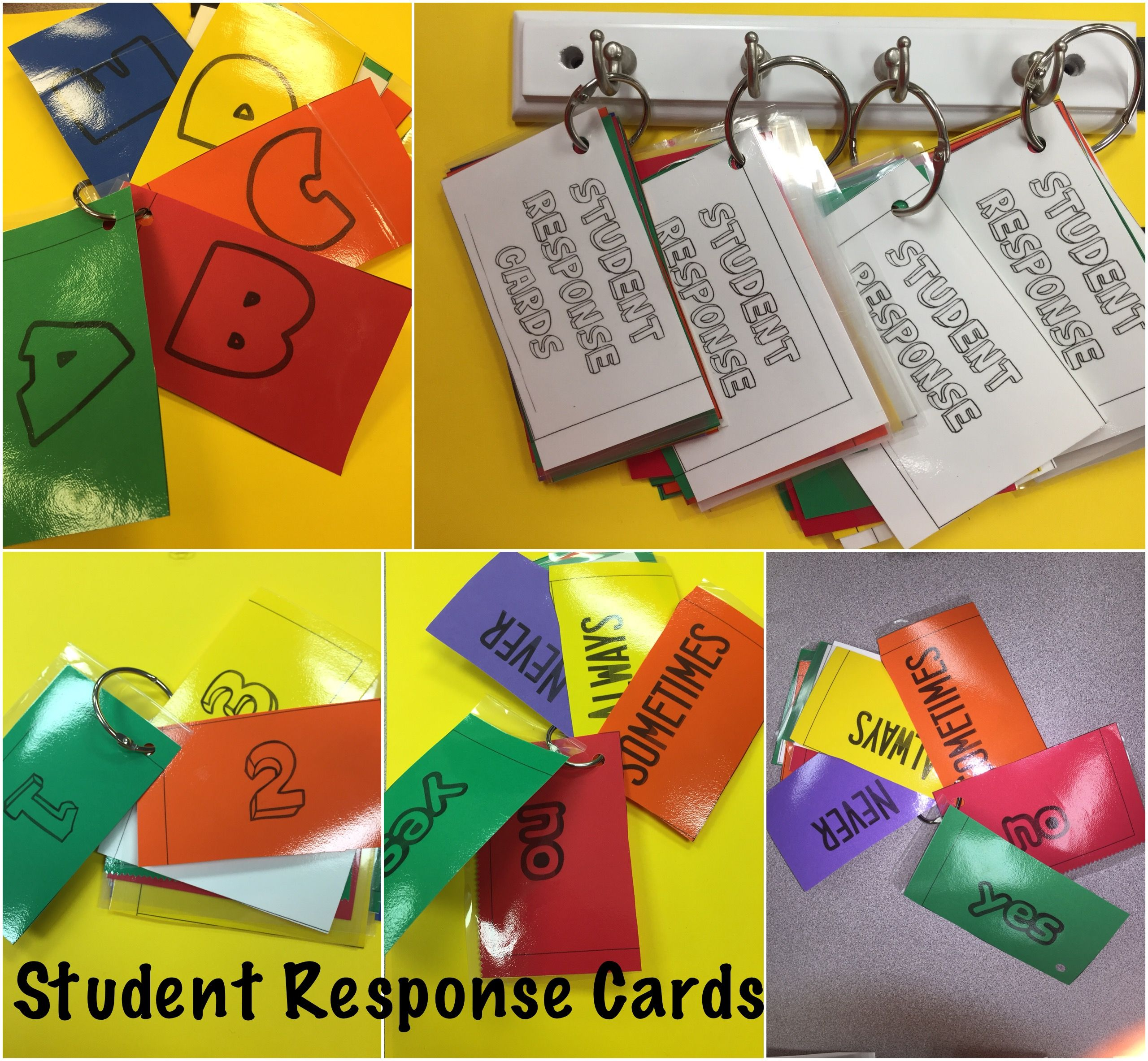 Quick And Easy Student Response Cards Four Ways To