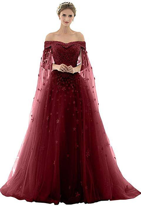 AZNA Damen Prinzessin Spitze Abendkleider Ballkleid ...