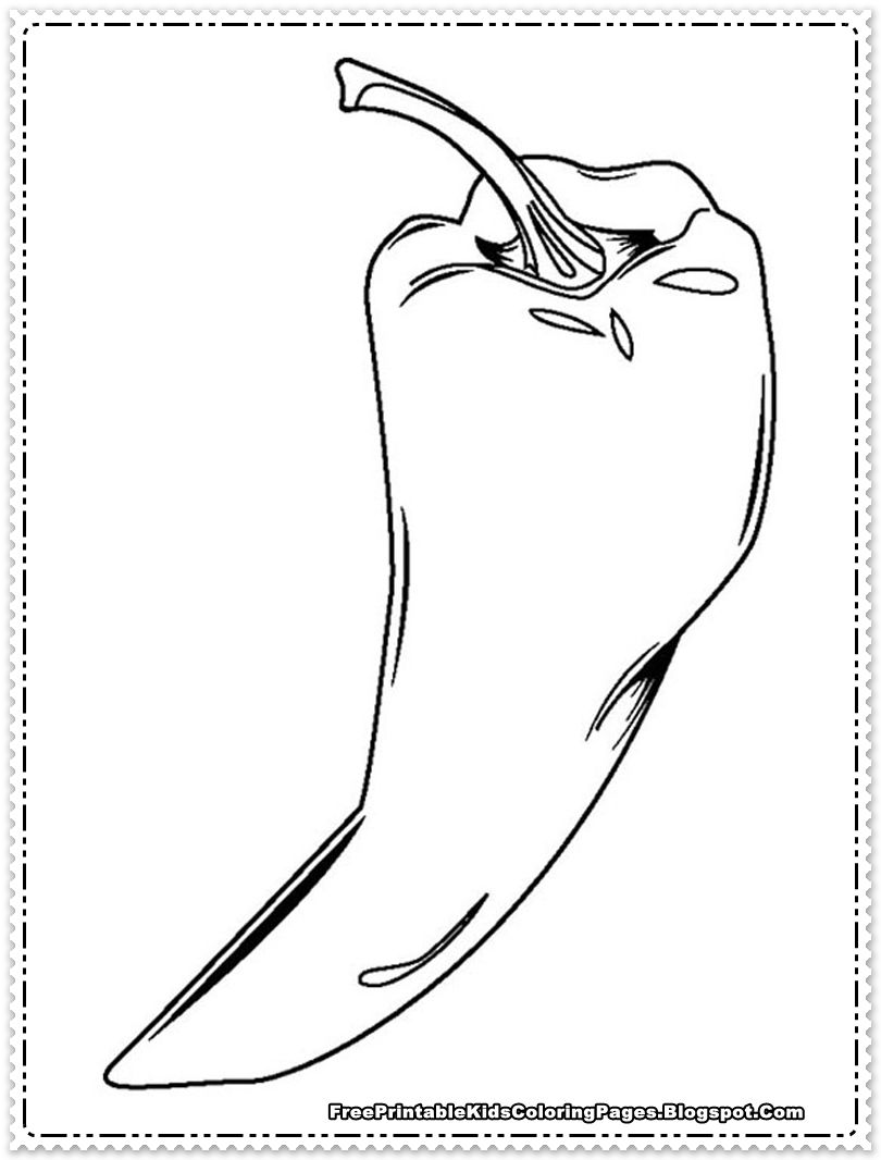 Coloring Pages For Chili Peppers Jpg 810 1 066 Pixels Stuffed