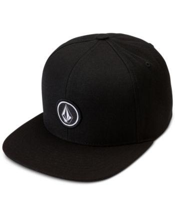 Volcom Men s Quarter Snap-Back Hat - Black in 2019  8fccbdc394ce