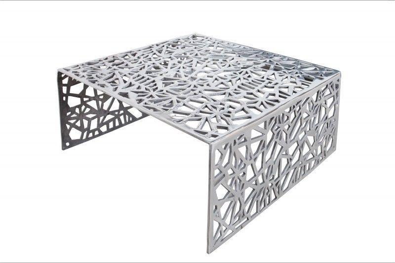 Details zu Couchtisch Beistelltisch AUBURN 75cm Aluminium silber - designer couchtisch wohnzimmertisch