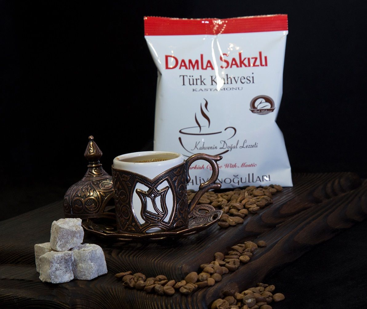 Mastic Gum Flavor Turkish Coffee Addicted to Drink