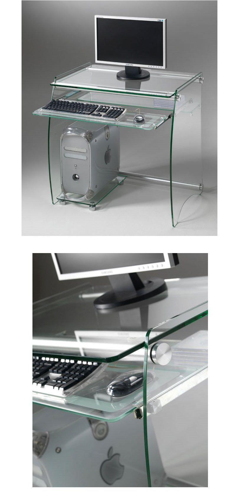 Scrivania Porta Pc In Vetro.Scrivania Porta Pc In Vetro Temperato Desk01 Desk Furniture Studio