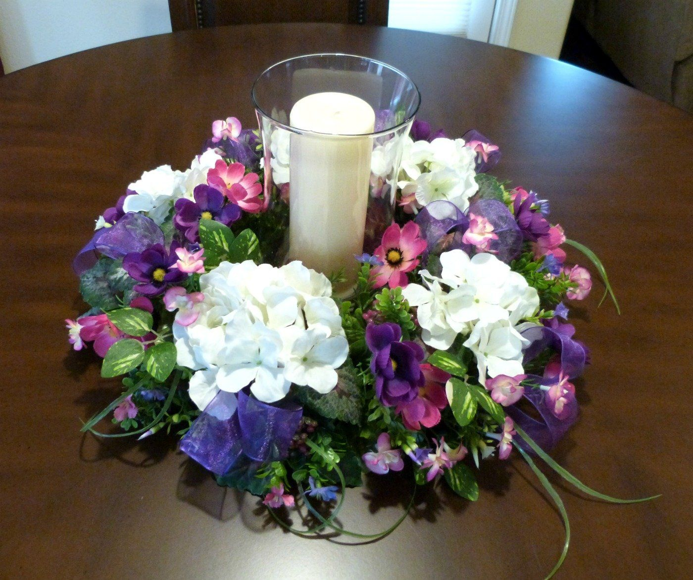 Candle Ring For Pillars Hydrangea Candle Ring Spring