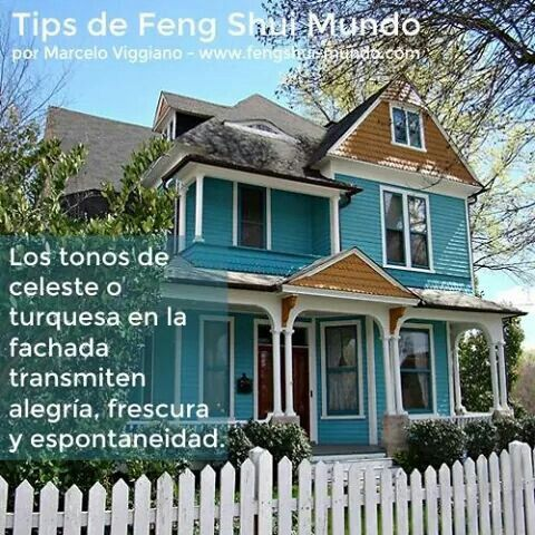 Feng shui el azul en el exterior
