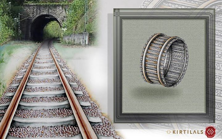Did you ever think a railway track could be an inspiration for a mesmerizingly beautiful bangle? Isn't it simply gorgeous! #ArtistsInspiration #RailTrack #Bangles #journey #jewellery #Fashion