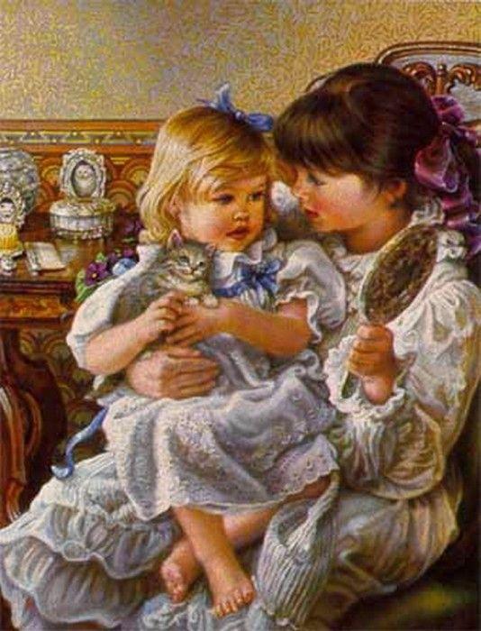 Мамочка с дочкой открытки, юбилеем гиф